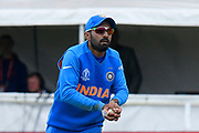 Wicket - Dinesh Karthik of India catches Liton Das of Bangladesh during the ICC Cricket World Cup 2019 match between Bangladesh and India at Edgbaston, Birmingham, United Kingdom on 2 July 2019.