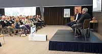 ZEIST - NGF themadag 2016.  gastsprekers Ole Skarin (Zweedse Golf Federatie) met Erik Lenselink (NOC*NSF)  Copyright KOEN SUYK