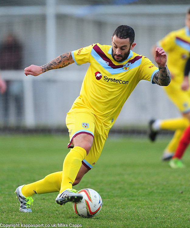 STEWART FLEETWOOD  WEYMOUTHKettering Town v Weymouth, Evostick Southern League Premier, Latimer Park Saturday 22nd October 2016<br /> Score 3-1