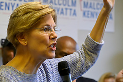 U.S. Sen. Elizabeth Warren (D-MA) speaks at a canvas kick-off event in support of the campaign to re-elect U.S. Sen. Bob Casey (D-PA) at a field office in North Philadelphia, PA, on September 23, 2018.