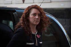 © Licensed to London News Pictures. 29/10/2013. London, UK. Rebekah Brooks, former editor of the News of the World, arrives at the Old Bailey in London today (29/10/2013) where they face charges related to phone hacking during their time at the paper. Photo credit: Matt Cetti-Roberts/LNP