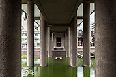 Barbican Center in London by Chamberlin,  Powel and Bon