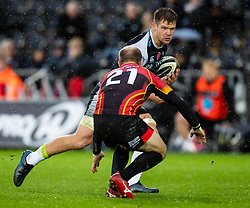 Olly Cracknell of Ospreys lines up. Sarel Pretorius of Southern Kings<br /> <br /> Photographer Simon King/Replay Images<br /> <br /> Guinness PRO14 Round 6 - Ospreys v Southern Kings - Saturday 9th November 2019 - Liberty Stadium - Swansea<br /> <br /> World Copyright © Replay Images . All rights reserved. info@replayimages.co.uk - http://replayimages.co.uk
