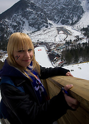 Fan during Flying Hill Individual Qualifications at 1st day of FIS Ski Flying World Championships Planica 2010, on March 18, 2010, Planica, Slovenia.  (Photo by Vid Ponikvar / Sportida)