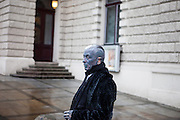 Prof. Vladimír Franz in front of the Prague National Opera. Franz is a prominent Czech composer and painter, stage music author and also a registered candidate in the 2013 Czech presidential election.