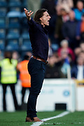 Wycombe Wanderers Manager Gareth Ainsworth signals from the side of the pitch during the EFL Sky Bet League 1 match between Wycombe Wanderers and Sunderland at Adams Park, High Wycombe, England on 19 October 2019.