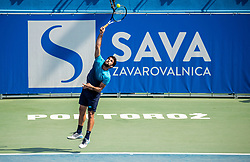 Federico Gaio (ITA) in action during Day 5 at ATP Challenger Zavarovalnica Sava Slovenia Open 2018, on August 7, 2018 in Sports centre, Portoroz/Portorose, Slovenia. Photo by Vid Ponikvar / Sportida