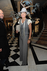 LUCY TANG at the launch of the Claridge's Christmas Tree designed by John Galliano for Dior held at Claridge's, Brook Street, London on 1st December 2009.