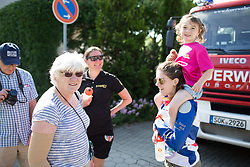 Spectators of all age wait for for the race at the finish of Stage 1 of the Lotto Thuringen Ladies Tour - a 124.8 km road race, starting and finishing in Schleiz on July 13, 2017, in Thuringen, Germany. (Photo by Balint Hamvas/Velofocus.com)