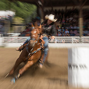 The Falkland Stampede-Ladies barrel racing.