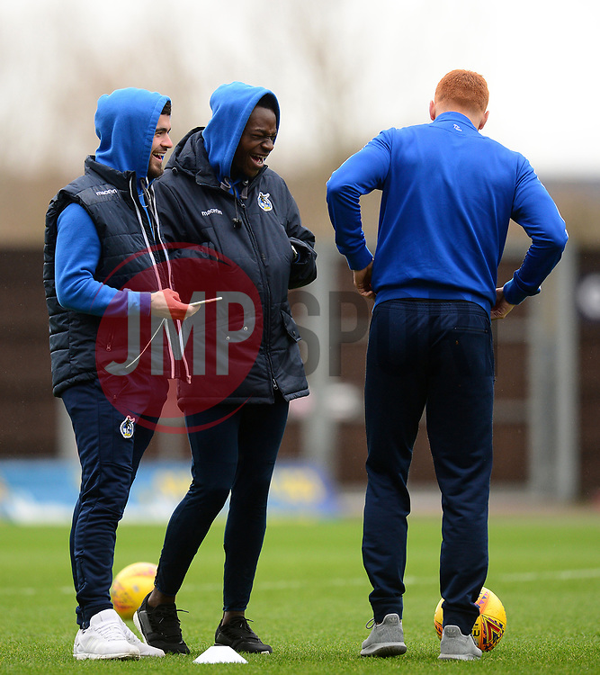 Dom Telford of Bristol Rovers  Marc Bola of Bristol Rovers  - Mandatory by-line: Alex James/JMP - 10/02/2018 - FOOTBALL - Kassam Stadium - Oxford, England - Oxford United v Bristol Rovers - Sky Bet League One