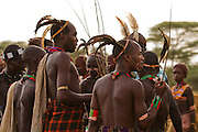 Africa, Ethiopia, Omo River Valley Hamer Tribe Men