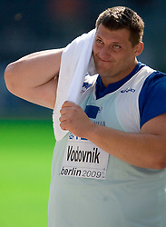 Miroslav Vodovnik of Slovenia competes in the men's Shot Put qualifying event of the 2009 IAAF Athletics World Championships on August 15, 2009 in Berlin, Germany. (Photo by Vid Ponikvar / Sportida)
