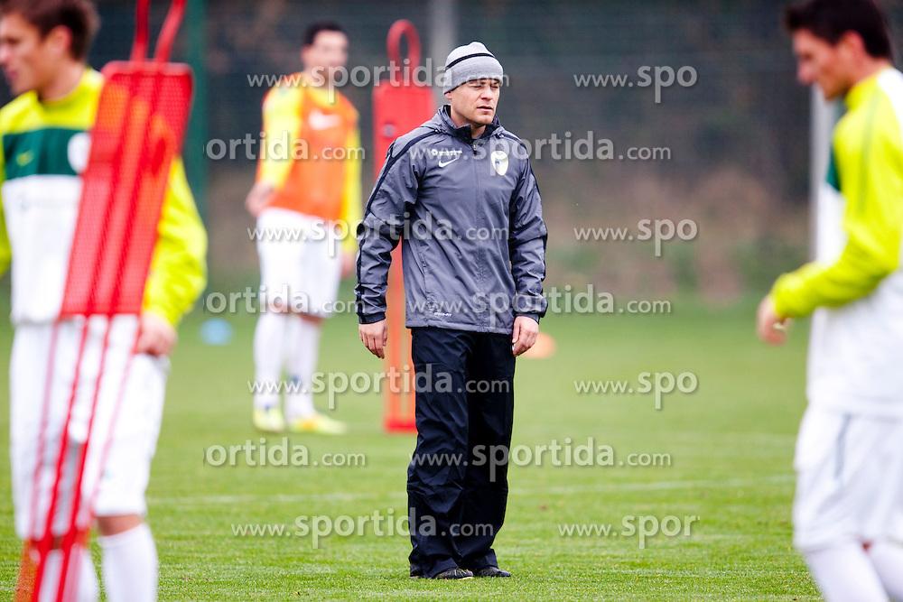 Anton - Toni Usnik during the Slovenia training before friendly match between National teams of Slovenia and ZDA at Kidricevo, on  9th November, 2011 in Ptuj, Slovenia (Photo by Urban Urbanc / Sportida Photo Agency)
