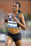 Beatrice Chepkoech (KEN) places ninth in the women's 5,000m in 14:46.58 during the IAAF Diamond League final at the 44th Memorial Van Damme at King Baudouin Stadium, Friday, Sept. 6, 2019, in Brussels, Belgium. (Jiro Mochizuki/Image of Sport)