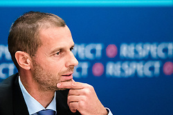Aleksander Ceferin, president of UEFA, at press conference of UEFA during Champions League Finals 2018, on May 24, 2018 in InterContinental Kyiv, Kiev, Ukraine. Photo by Morgan Kristan / Sportida