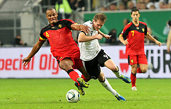 11.10.2011, Esprit Arena, Duesseldorf, GER, UEFA EURO 2012 Qualifikation, Deutschland (GER) vs Belgien (BEL), im Bild..Andre Schürrle (GER) gegen Vincent Kompany (Belgien)..// during the UEFA Euro 2012 qualifying round Germany vs Belgium  at Esprit Arena, Duesseldorf 2011-10-11 EXPA Pictures © 2011, PhotoCredit: EXPA/ nph/  Hessland       ****** out of GER / CRO  / BEL ******