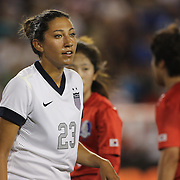 Christen Press, USA, in action during the U.S. Women Vs Korea Republic friendly soccer match at Red Bull Arena, Harrison, New Jersey. USA. 20th June 2013. Photo Tim Clayton