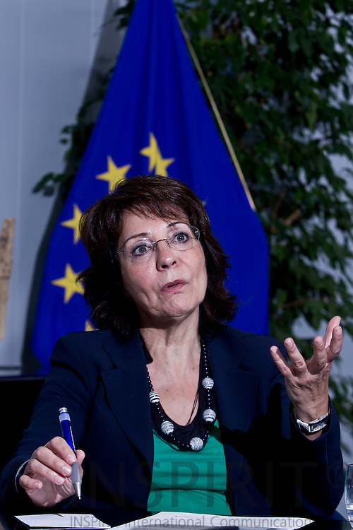 Maria Damanaki, EU Commissioner for Maritime affairs and Fisheries during an interview in her office in Brussels on Monday 27 June 2011. PHOTO: ERIK LUNTANG / INSPIRIT Photo.