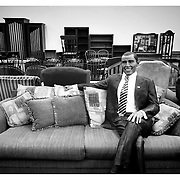 Is he shopping for the Oval Office or the White House residence?  A mannequin of President Obama sits on furniture up for auction Thursday, January 29, 2014, in Richmond, VA.<br /> <br /> Photo by Khue Bui
