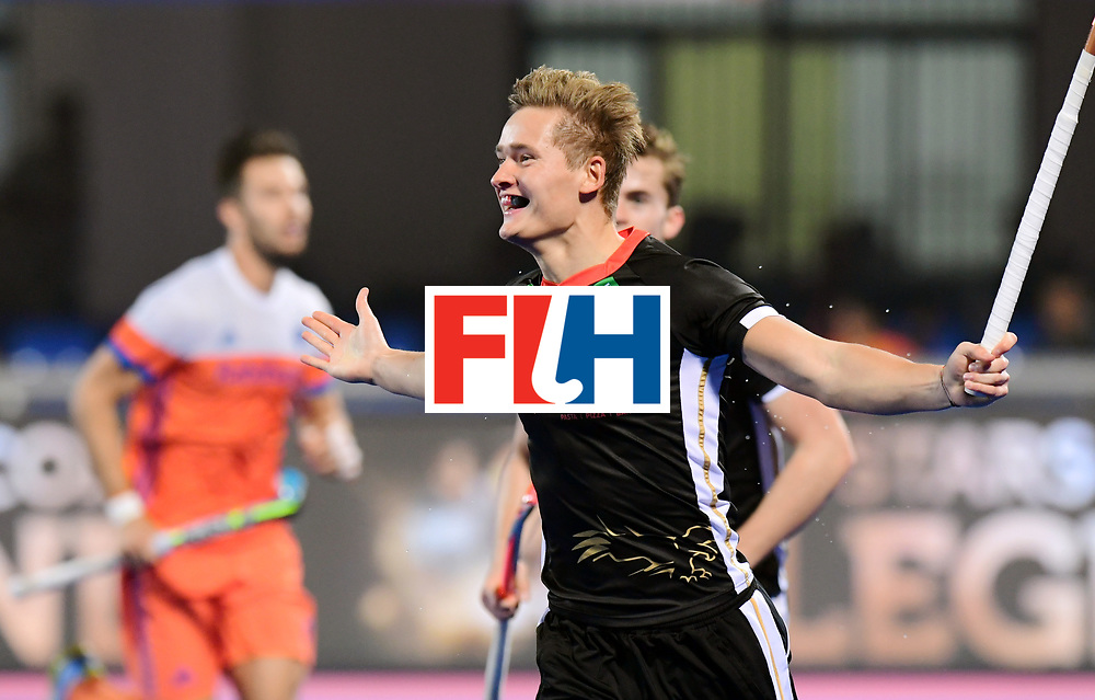 Odisha Men's Hockey World League Final Bhubaneswar 2017<br /> Match id:16<br /> Germany v Netherlands<br /> Foto: Julius Meyer (Ger) scored 1-0 <br /> COPYRIGHT WORLDSPORTPICS FRANK UIJLENBROEK