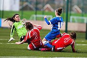 Brighton's Charlotte Own in action during the FA Women's Premier League match between Brighton Ladies and Cardiff City Ladies at Brighton's Training Ground, Lancing, United Kingdom on 22 March 2015. Photo by Geoff Penn.