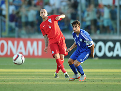 Jonjo Shelvey of England (Swansea City) passes the ball  - Mandatory byline: Joe Meredith/JMP - 07966386802 - 05/09/2015 - FOOTBALL- INTERNATIONAL - San Marino Stadium - Serravalle - San Marino v England - UEFA EURO Qualifers Group Stage