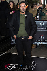 © Licensed to London News Pictures. 08/04/2016. NAUGHTY BOY attends The Asian Awards celebrating the best in Asian achievement across business, sport, philanthropy, and popular arts and culture. London, UK. Photo credit: Ray Tang/LNP