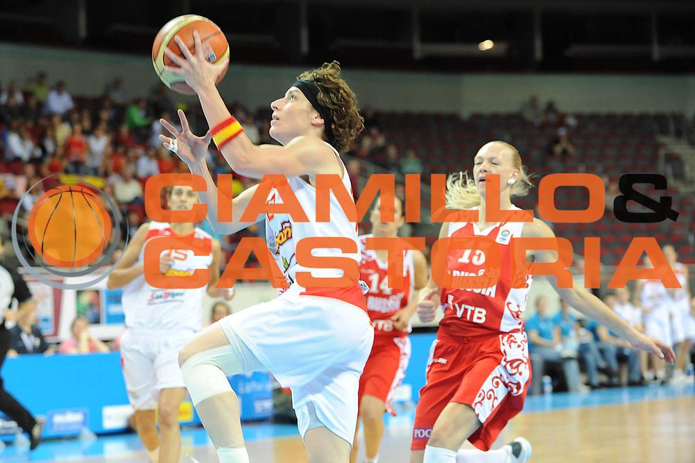 DESCRIZIONE : Riga Latvia Lettonia Eurobasket Women 2009 Semifinal Spagna Russia Spain Russia<br /> GIOCATORE : Elisa Aguilar<br /> SQUADRA : Spagna Spain<br /> EVENTO : Eurobasket Women 2009 Campionati Europei Donne 2009 <br /> GARA : Spagna Russia Spain Russia<br /> DATA : 19/06/2009 <br /> CATEGORIA : tiro<br /> SPORT : Pallacanestro <br /> AUTORE : Agenzia Ciamillo-Castoria/M.Marchi<br /> Galleria : Eurobasket Women 2009 <br /> Fotonotizia : Riga Latvia Lettonia Eurobasket Women 2009 Semifinal Spagna Russia Spain Russia<br /> Predefinita :