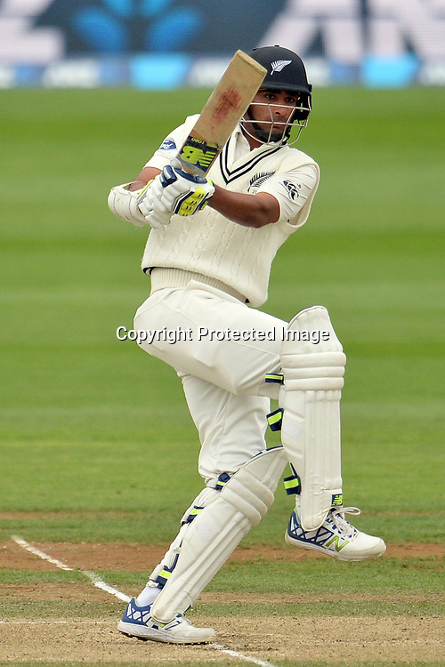New Zealand batsman Jeet Raval plays the pull shot during the Day 3 of the 2nd Test Cricket match. ANZ Cricket Test Series - Blackcaps vs South Africa, Basin Reserve, Saturday 18th March 2017. Copyright Photo: Raghavan Venugopal / www.photosport.nz