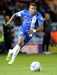 Peterborough United's Britt Assombalonga - Photo mandatory by-line: Joe Dent/JMP - Tel: Mobile: 07966 386802 08/10/2013 - SPORT - FOOTBALL - London Road Stadium - Peterborough - Peterborough United V Brentford - Johnstone's Paint Trophy