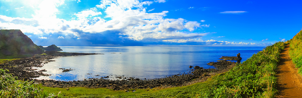 View overlooking Port Noffer towards the Giant's Causeway and Aird Snout, Co. Antrim