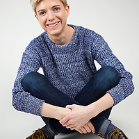 """Mae Martin began writing and performing comedy at tender age of 13. In the 11 years since then she has cemented her place in the Canadian comedy scene, appearing on television and radio across the country. She has been nominated for two Canadian Comedy Awards, and was the youngest ever nominee for the prestigious Tim Sims Encouragement Fund Award. Her television credits include MuchMusic's Video On Trial, Global Television's """"Global Comedians"""" (alongside Maria Bamford, Jon Dore, Dave Foley, James Smith and Matt Kirshen) and The Comedy Network's """"Cream of Comedy. <br /> <br /> Mae has been based in the UK since late 2010 and has performed at comedy clubs across the country plus gigs in Germany. She took a very successful debut show to Edinburgh in 2011 and returns each year with 'Mae Day'. Mae hosts her own night at the famous Candy Bar in Soho. I met Mae through her agency who contacted me to arrange a photoshoot. Mae needed a set of updated images for her Edinburgh"""