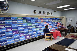 Volunteers phonenank at a campaign headquarters, in Lancaster, PA. on Nov. 5th, 2016. The Keystone state is considered a mayor battleground in the 2016 US General Elections.