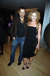 KELLY HOPPEN and GERRY DEVEAUX at an Evening at Sanderson in Aid of CLIC Sargent held at The Sanderson Hotel, 50 Berners Street, London W1 on 15th May 2007.<br />