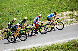 Martin Haring of Dukla Banska Bystrica, Benjamin Hill of Ljubljana Gusto Xaurum, Juraj Bellan of Dukla Banska Bystrica, Jon Bozic of Adria Mobil Cycling Team and Nik Cemazar of Slovenija National Team compete during 1st Stage of 25th Tour de Slovenie 2018 cycling race between Lendava and Murska Sobota (159 km), on June 13, 2018 in  Slovenia. Photo by Vid Ponikvar / Sportida