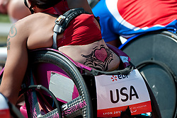 Behind the scenes, USA, 4x400m Relay, T53/54, 2013 IPC Athletics World Championships, Lyon, France