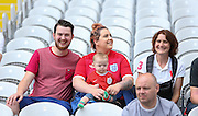 England fans with baby during the Euro 2016 Group B match between England and Wales at Stade de Bollaert-Delelis, Lens Agglo, France on 16 June 2016. Photo by Phil Duncan.