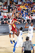 Chris Allen #4 of the Iowa State Cyclones goes in for a dunk against the Kentucky Wildcats during the third round of the NCAA men's basketball championship on March 17, 2012 at KFC Yum! Center in Louisville, Kentucky. Kentucky advanced with an 87-71 win. (Photo by Joe Robbins)
