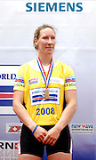 Lucerne, SWITZERLAND.  Debbie FLOOD,  from the GBR W4X Bronze medalist, at the  2008 FISA World Cup Regatta, Round 2.  Lake Rotsee, on Sunday 01/06/2008.  [Mandatory Credit:  Peter Spurrier/Intersport Images].Lucerne International Regatta. Rowing Course, Lake Rottsee, Lucerne, SWITZERLAND.