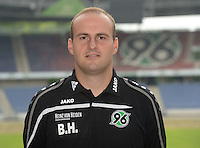 German Soccer Bundesliga 2015/16 - Photocall of Hannover 96 on 13 July 2015 in Hanover, Germany: equipment-manager Benjamin Hauptmann