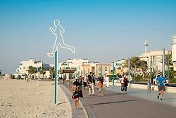 New public boardwalk and jogging track beside beach   in Dubai United Arab Emirates