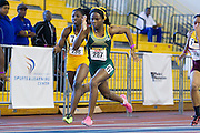 Norfolk State sophomore Torie Cunningham during the Women's 60 Meter Dash during the 2013 MEAC Men's and Women's Indoor Track and Field Championships at the Prince George's Sports and Learning Complex in Landover, Maryland.  February 15, 2013  (Photo by Mark W. Sutton)