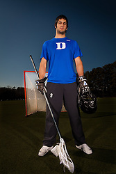 28 January 2011: CJ Costabile, lacrosse player for the Duke Blue Devils. (Peyton Williams/US Lacrosse)