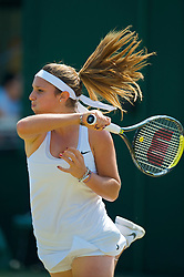 LONDON, ENGLAND - Tuesday, June 30, 2009: Tamaryn Hendler during the Girls' Singles 2nd Round match on day eight of the Wimbledon Lawn Tennis Championships at the All England Lawn Tennis and Croquet Club. (Pic by David Rawcliffe/Propaganda)