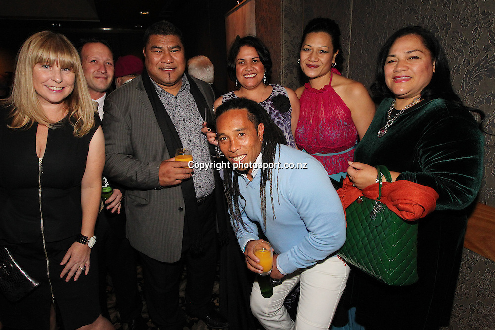 Vainga Tuigamala and friends at A tribute to former All Blacks coach Sir Graham Henry by The Mad Butcher introducing his book Graham Henry Final Word at the Langham Hotel, Thursday August 9, 2012. Photo: Fiona Goodall/Photosport.