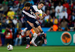 Francisco Torres of USA vs Robert Koren of Slovenia during the 2010 FIFA World Cup South Africa Group C match between Slovenia and USA at Ellis Park Stadium on June 18, 2010 in Johannesberg, South Africa. (Photo by Vid Ponikvar / Sportida)