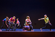 Members of the Dancing Wheels Dance Troupe perform in Baker Theater at Ohio University on October 13, 2015. The performance was one of the events the university was holding to recognize and celebrate the 25th anniversary of the ADA. Photo by Emily Matthews