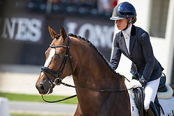 Fry Charlotte, GBR, Iondale<br /> World ChampionshipsYoung Dressage Horses<br /> Ermelo 2018<br /> © Hippo Foto - Dirk Caremans<br /> 02/08/2018