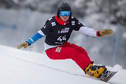 Sebastian Schueler (SUI) during Final Run at Parallel Giant Slalom at FIS Snowboard World Cup Rogla 2019, on January 19, 2019 at Course Jasa, Rogla, Slovenia. Photo byJurij Vodusek / Sportida